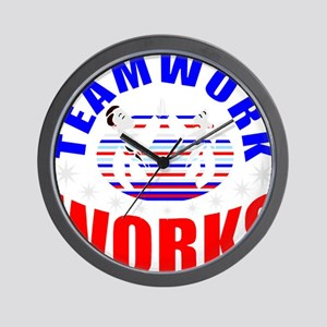 Patriotic teamwork Wall Clock
