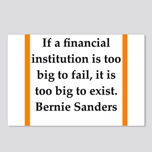 bernie sander quote Postcards (Package of 8)