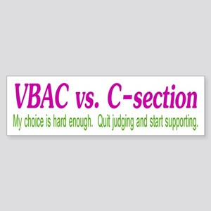 VBAC Hard Enough Bumper Sticker