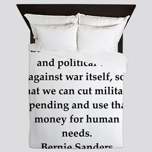 bernie sander quote Queen Duvet