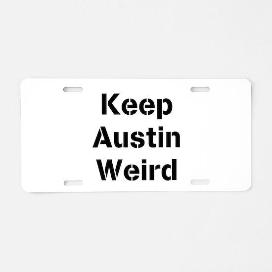 Funny Austin Aluminum License Plate