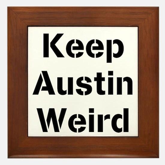 Cute Austin Framed Tile