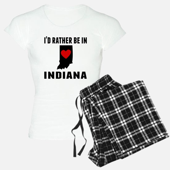Id Rather Be In Indiana Pajamas