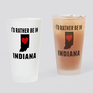 Id Rather Be In Indiana Drinking Glass