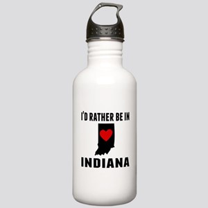 Id Rather Be In Indiana Water Bottle