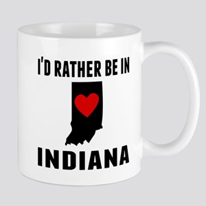 Id Rather Be In Indiana Mugs