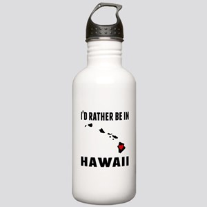 Id Rather Be In Hawaii Water Bottle
