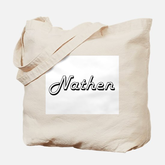 Nathen Classic Style Name Tote Bag