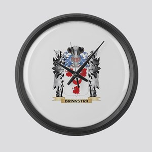 Brinkstra Coat of Arms - Family C Large Wall Clock