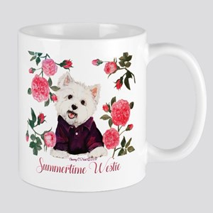 Summertime Westie Mugs