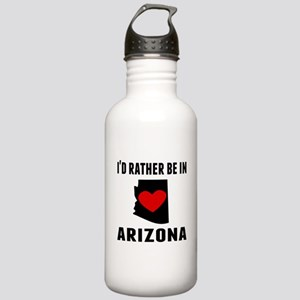 Id Rather Be In Arizona Water Bottle