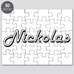 Nickolas Classic Style Name Puzzle
