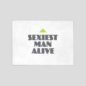 Sexiest Man Alive 5'x7'Area Rug