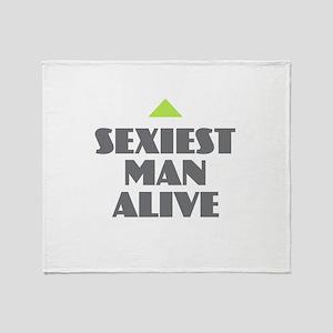Sexiest Man Alive Throw Blanket