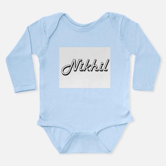 Nikhil Classic Style Name Body Suit