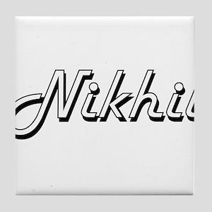 Nikhil Classic Style Name Tile Coaster