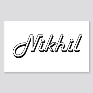 Nikhil Classic Style Name Sticker