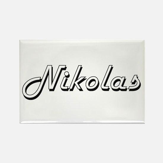 Nikolas Classic Style Name Magnets