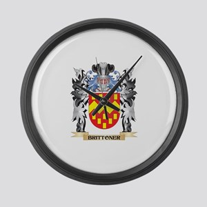 Brittoner Coat of Arms - Family C Large Wall Clock