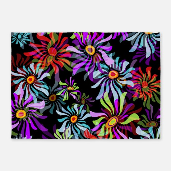 Whimsical Floral 5'x7'Area Rug