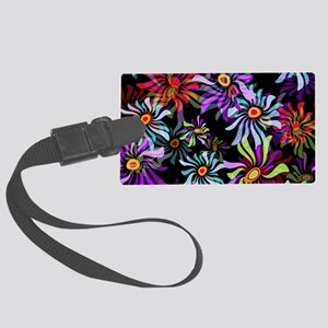 Whimsical Floral Luggage Tag