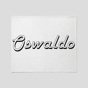 Oswaldo Classic Style Name Throw Blanket