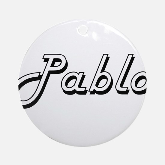 Pablo Classic Style Name Ornament (Round)