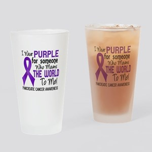 Pancreatic Cancer MeansWorldToMe2 Drinking Glass