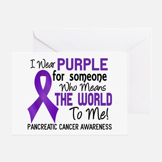 Pancreatic Cancer MeansWorldToMe2 Greeting Card