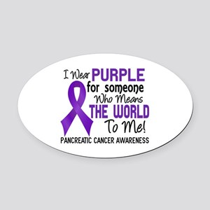 Pancreatic Cancer MeansWorldToMe2 Oval Car Magnet
