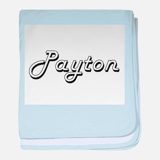 Payton Classic Style Name baby blanket