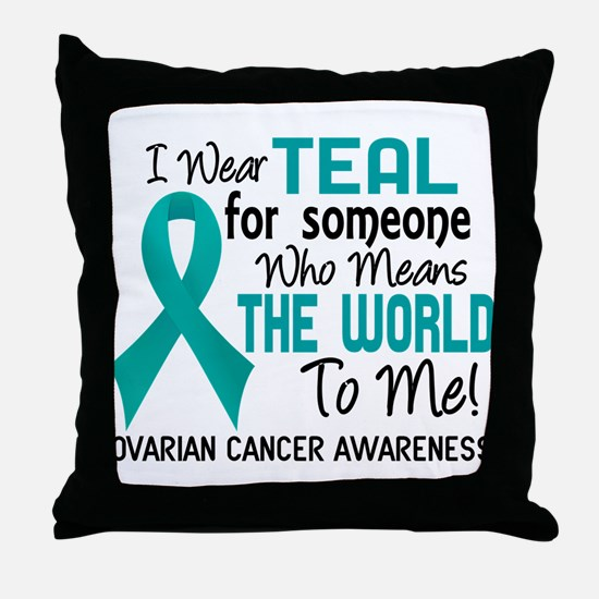 Ovarian Cancer MeansWorldToMe2 Throw Pillow