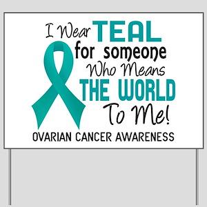 Ovarian Cancer MeansWorldToMe2 Yard Sign