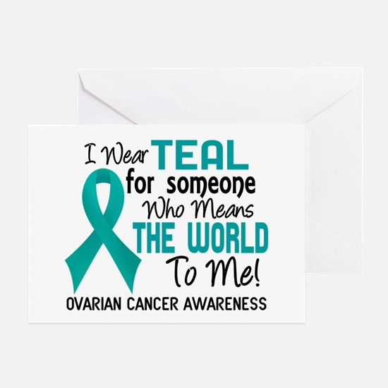 Ovarian Cancer MeansWorldToMe2 Greeting Card