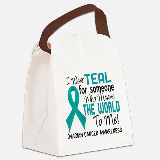 Ovarian Cancer MeansWorldToMe2 Canvas Lunch Bag