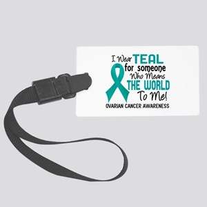 Ovarian Cancer MeansWorldToMe2 Large Luggage Tag