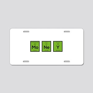Money Chemical Element Funn Aluminum License Plate