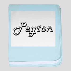 Peyton Classic Style Name baby blanket