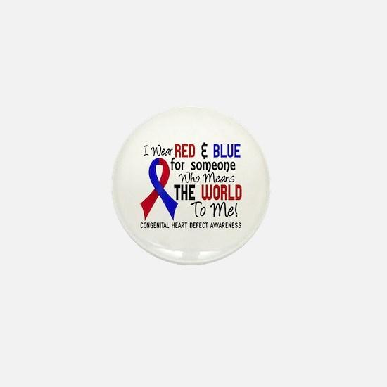 Congenital Heart Defect MeansWorldToMe Mini Button