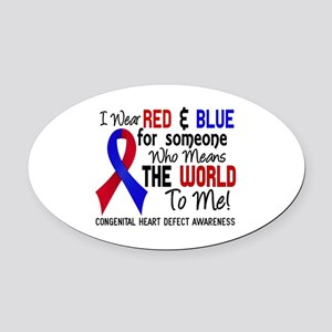 Congenital Heart Defect MeansWorld Oval Car Magnet