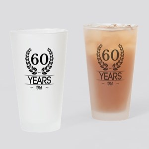 60 Years Old Drinking Glass