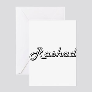 Rashad Classic Style Name Greeting Cards