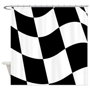 Checkered Flag Shower Curtains
