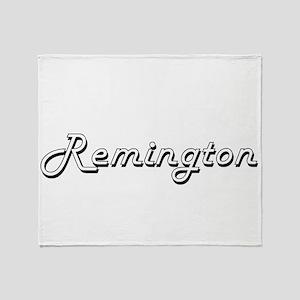 Remington Classic Style Name Throw Blanket