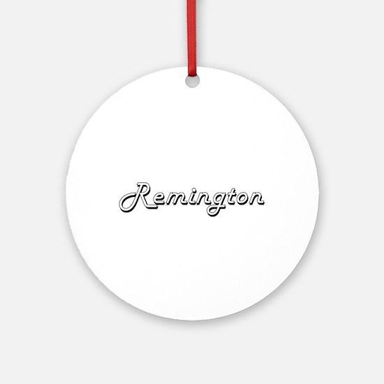 Remington Classic Style Name Ornament (Round)