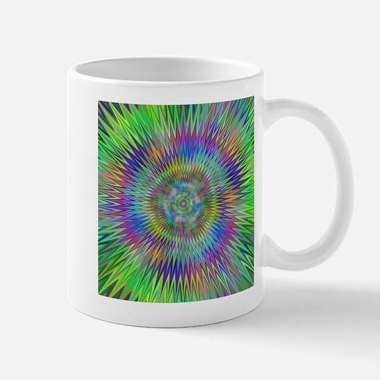 Hypnotic Star Burst Fractal Mugs