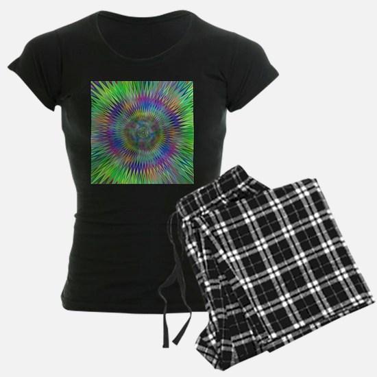 Hypnotic Star Burst Fractal Pajamas