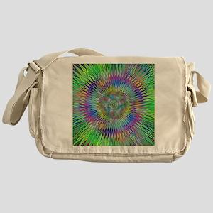 Hypnotic Star Burst Fractal Messenger Bag