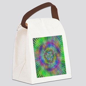Hypnotic Star Burst Fractal Canvas Lunch Bag