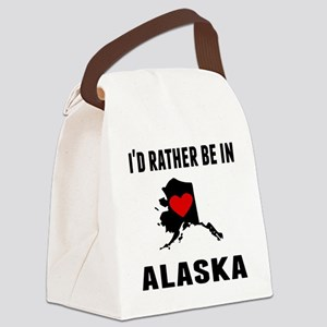 Id Rather Be In Alaska Canvas Lunch Bag
